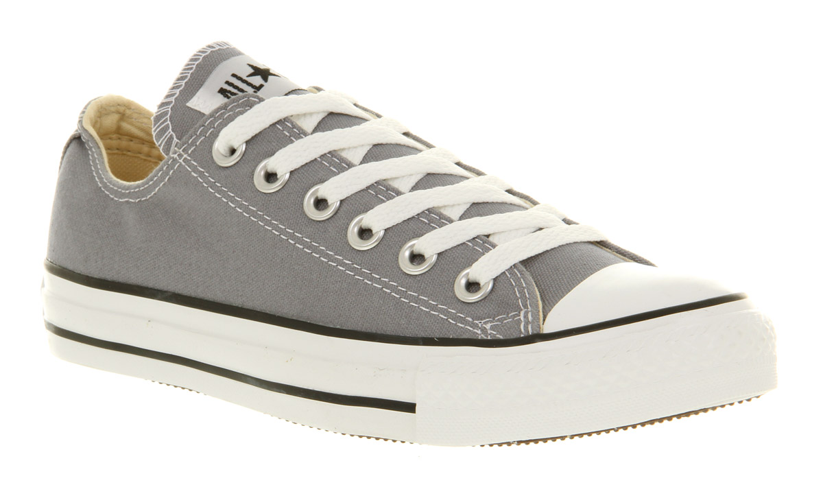 Converse-All-Star-Ox-Low-Lead-Grey-St-Trainers-Shoes