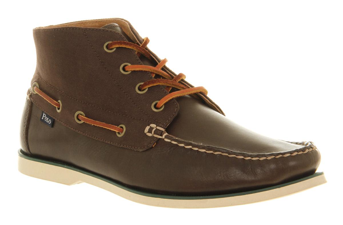 Mens Ralph Lauren Vaughn Tan Brown Leather Casual Trainer Shoes | eBay