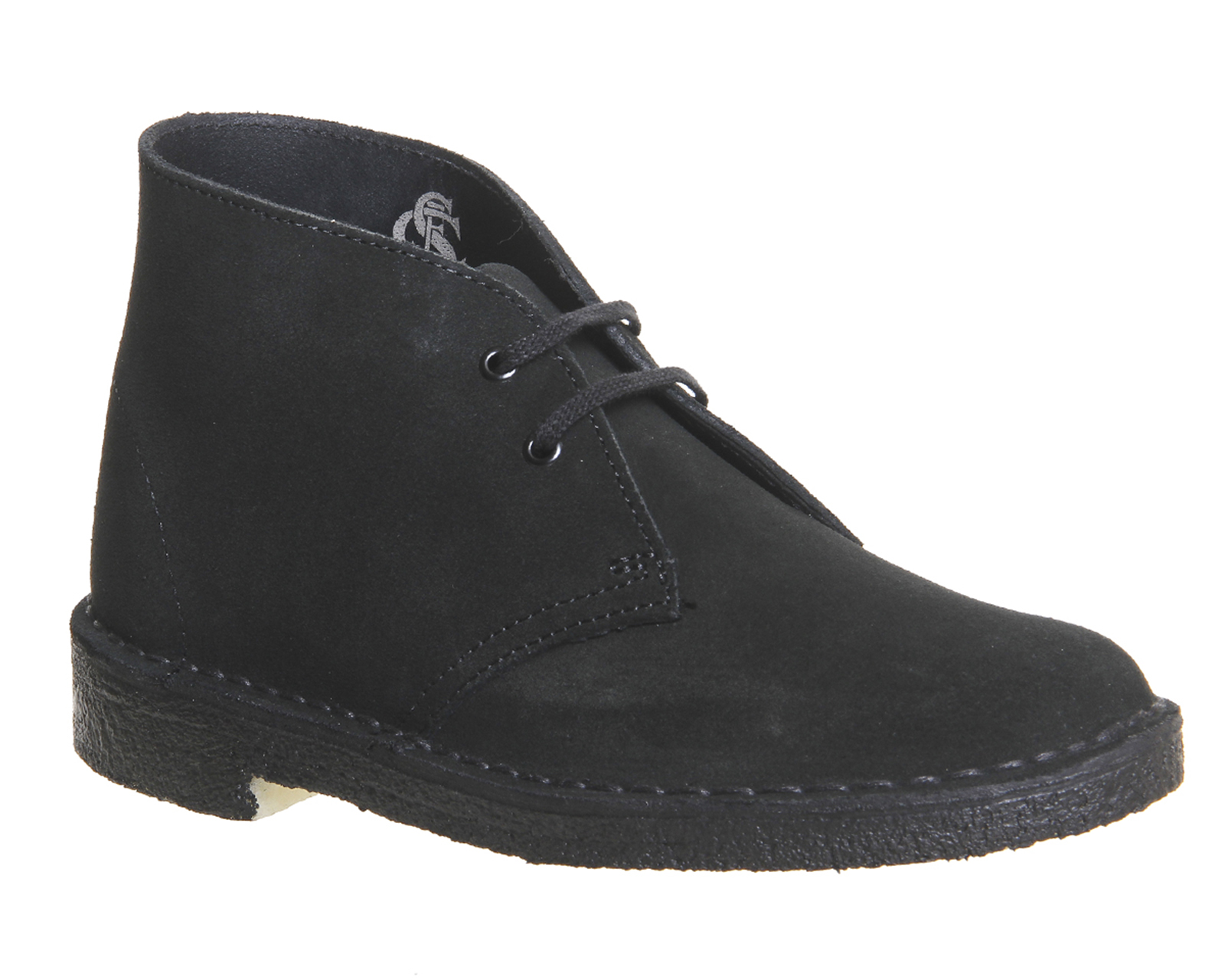 womens clarks originals desert boots black suede boots ebay. Black Bedroom Furniture Sets. Home Design Ideas
