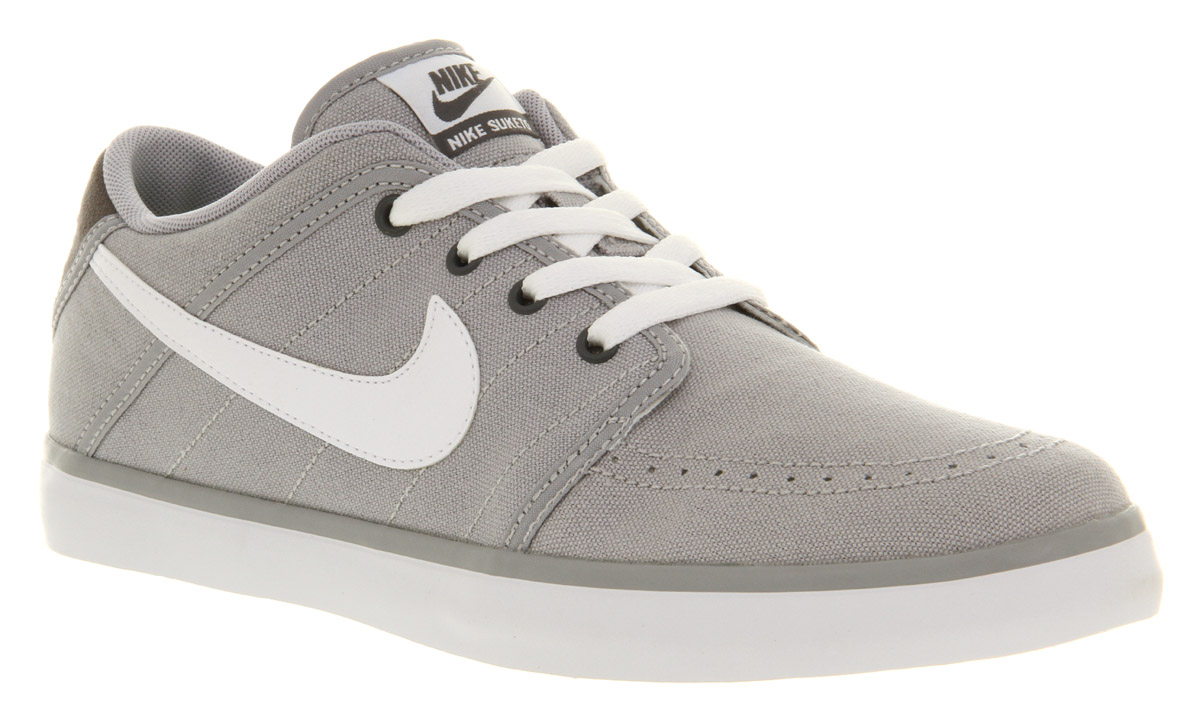 Mens Nike Roshe One Casual Shoes Wolf Grey White