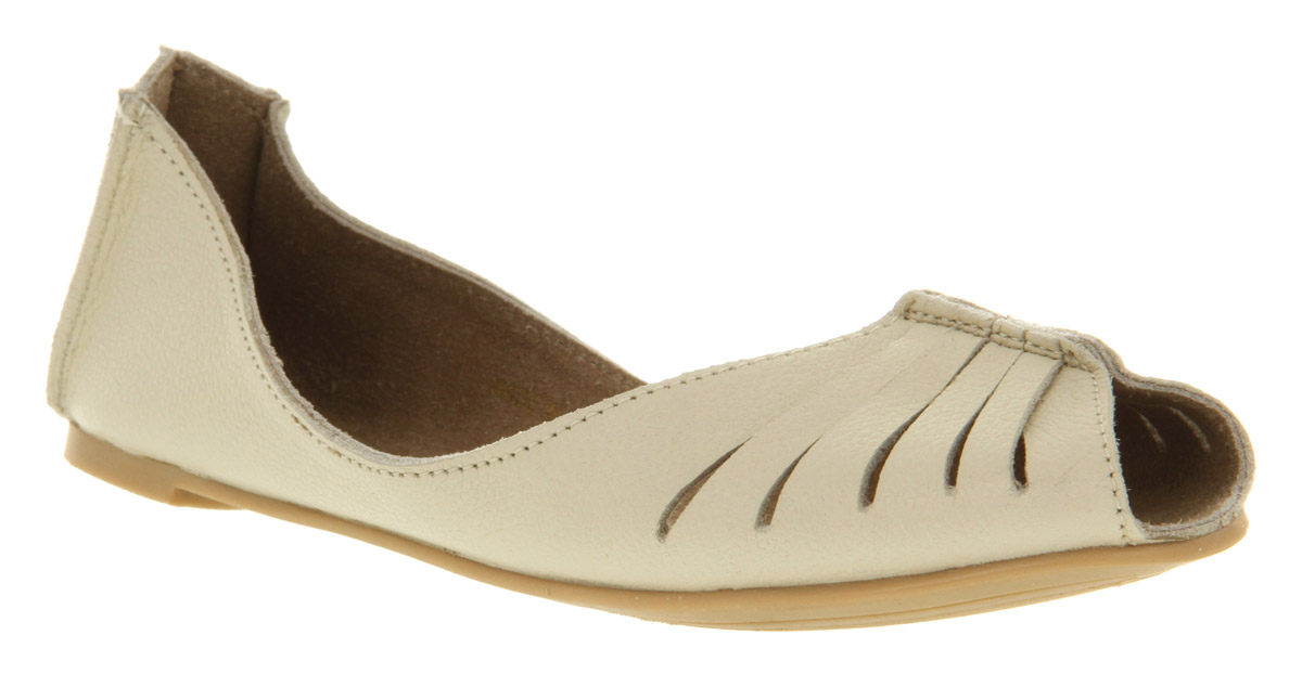 Womens-Office-Mango-Cut-Out-Off-White-Lthr-Flats