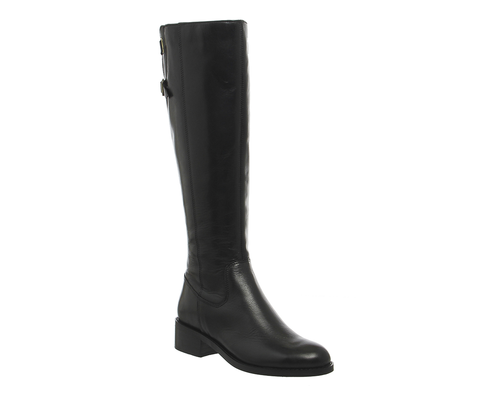 womens office empire cross rider boots black leather