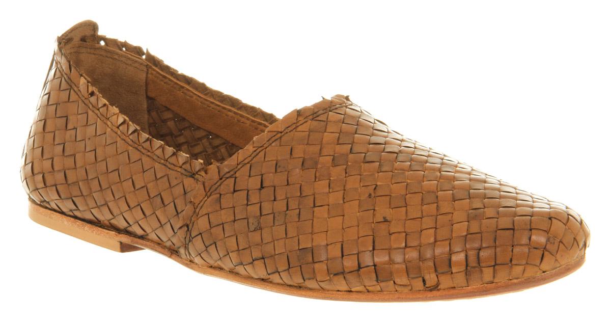 Mens Tan Woven Shoes