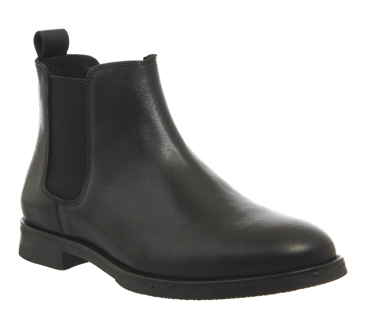 Mens Office Cage Chelsea Boots BLACK LEATHER Boots