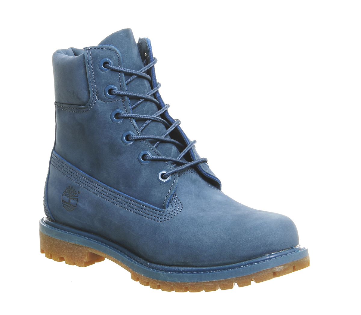 womens timberland premium 6 boots blue ink nubuck boots ebay