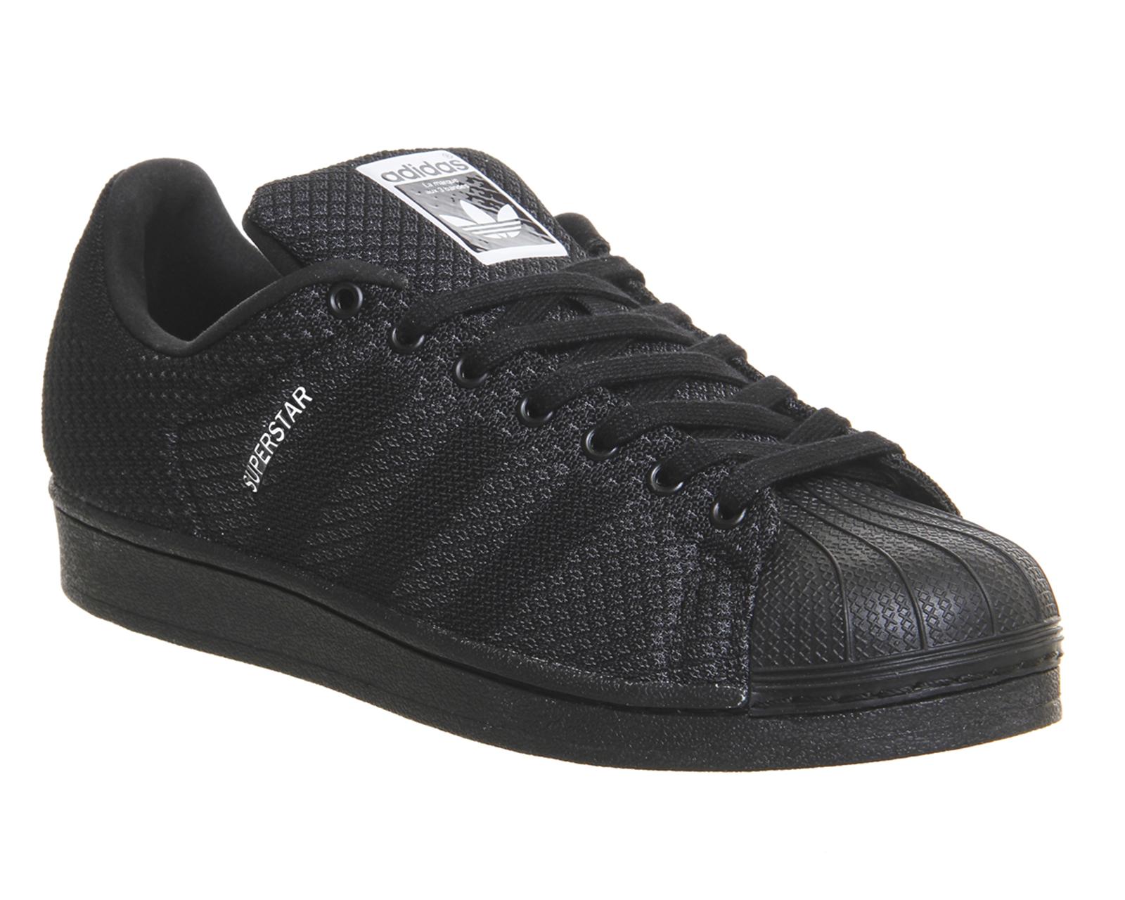 mens adidas superstar 2 black white weave pack trainers. Black Bedroom Furniture Sets. Home Design Ideas