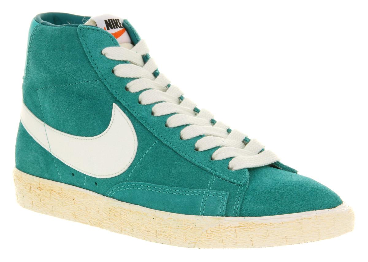 jordan sale - Nike Blazer Hi Suede Vntage Aqua Green Trainers Shoes | eBay