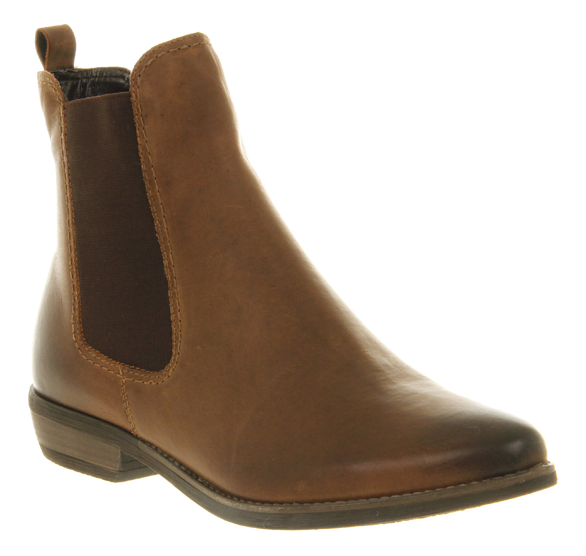 Perfect Coolway Lelva Womens Slip On Leather U0026 Textile Chelsea Boots Shoes Brown | EBay