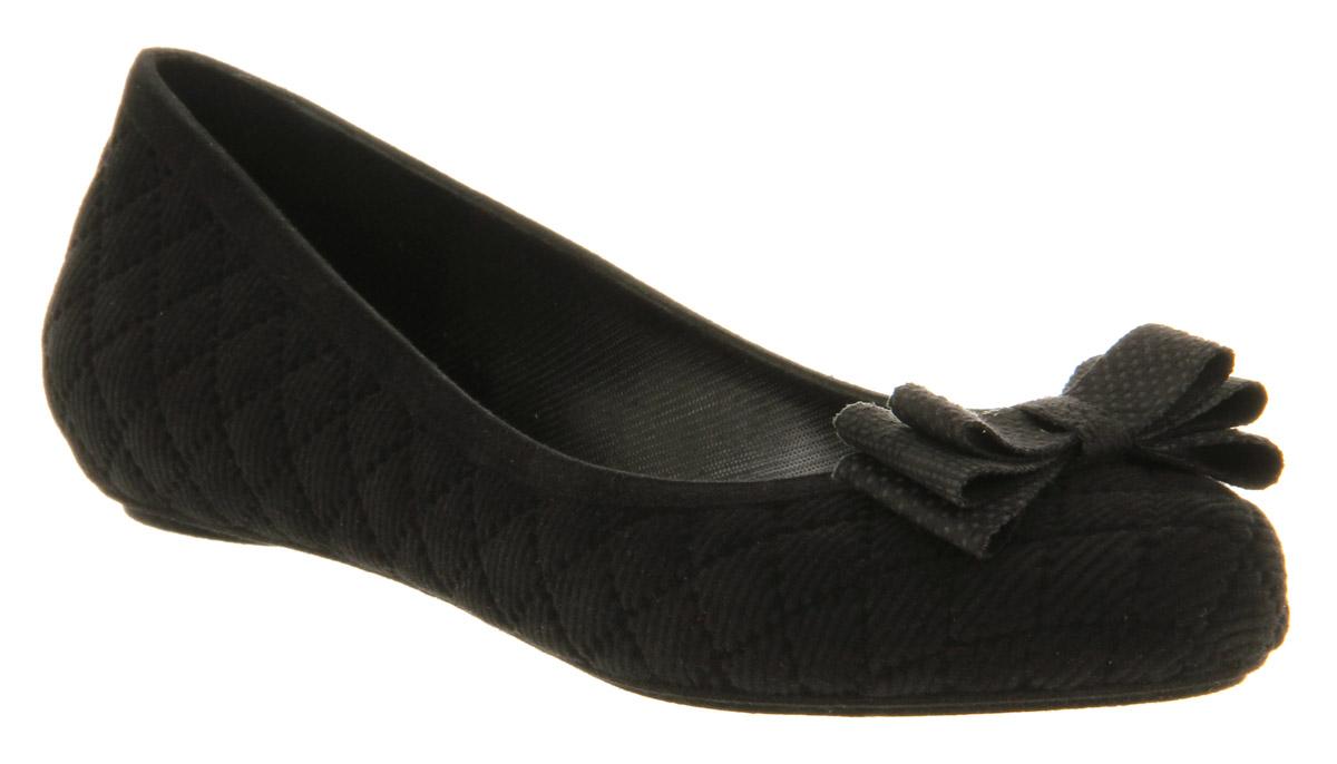 0bb6661b7 Womens Mel Cherry Bow Black Flats - Size 4 | eBay
