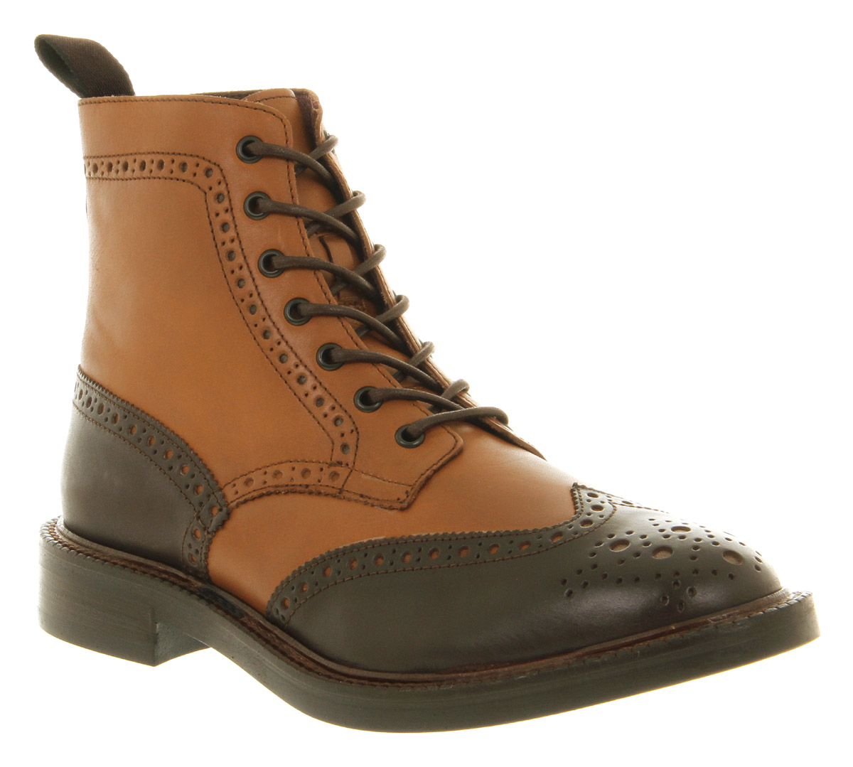 mens poste theodor brogue boot brown leather boots