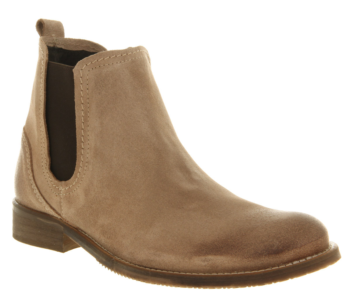 mens ask the missus gordon chelsea boot beige suede boots ebay. Black Bedroom Furniture Sets. Home Design Ideas