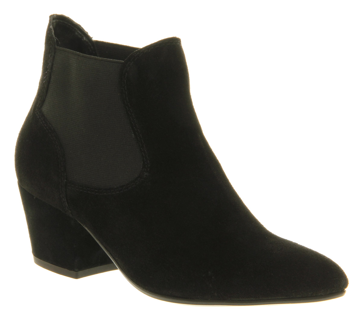 Elegant Ladies Chelsea Boots Womens Suede Look Block Heel Shoes Ankle Zip Pom Pom Winter | EBay