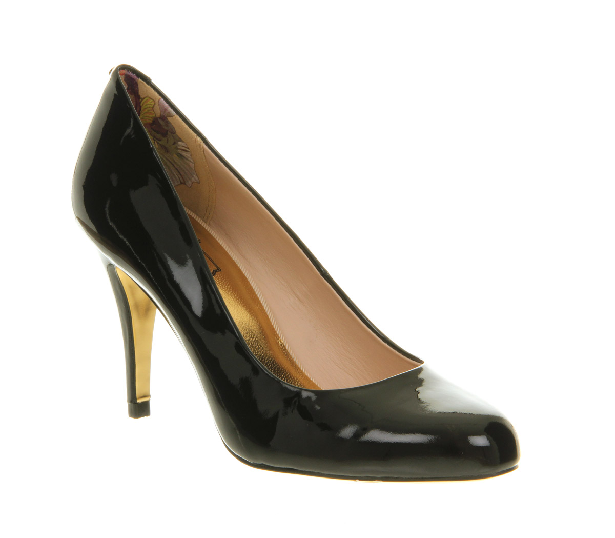 Details about Womens Ted Baker Marae High Heel Court Shoe Black Patent