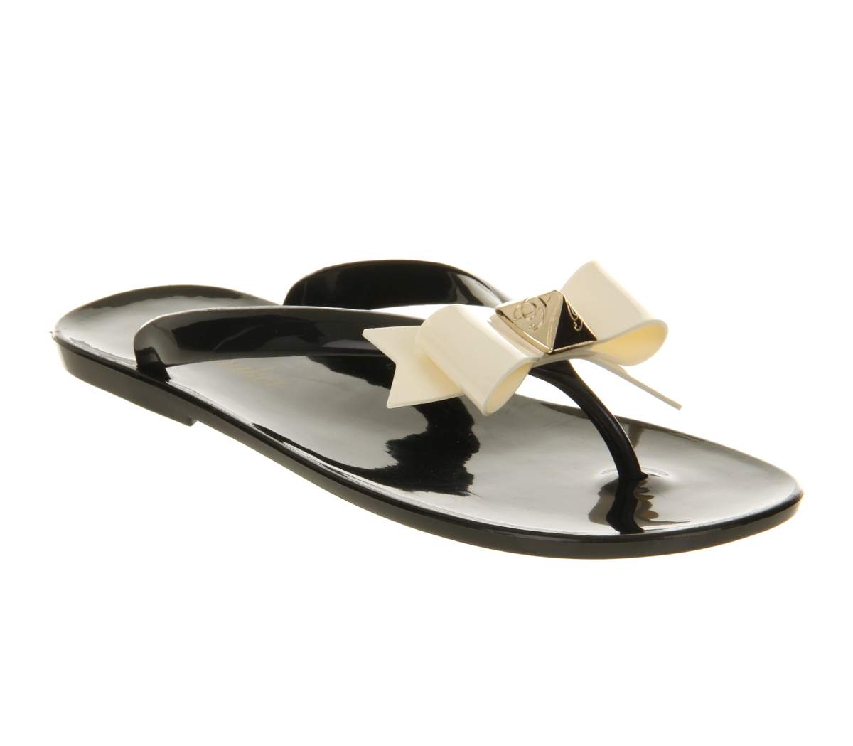 Image is loading Womens-Ted-Baker-Polee-Flip-Flop-Black-Cream-