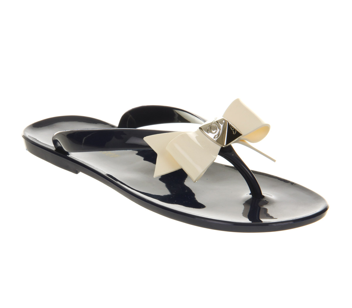 Womens-Ted-Baker-Polee-Flip-Flop-Dark-Blue-Cream-Exclusive-Sandals