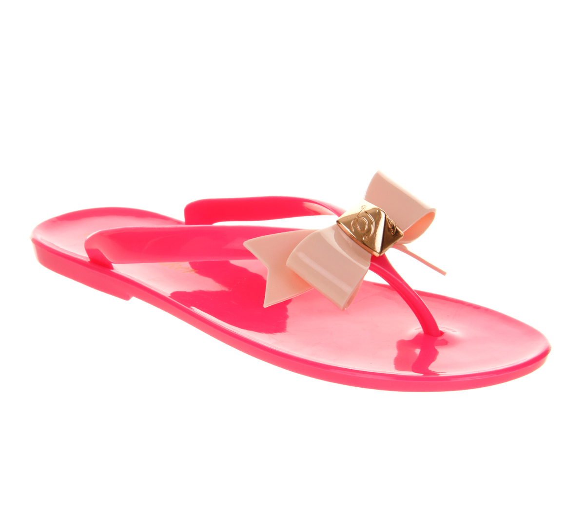 d1a37c1f2 Womens Ted Baker Polee Flip Flop Pink Light Pink Pvc Sandals