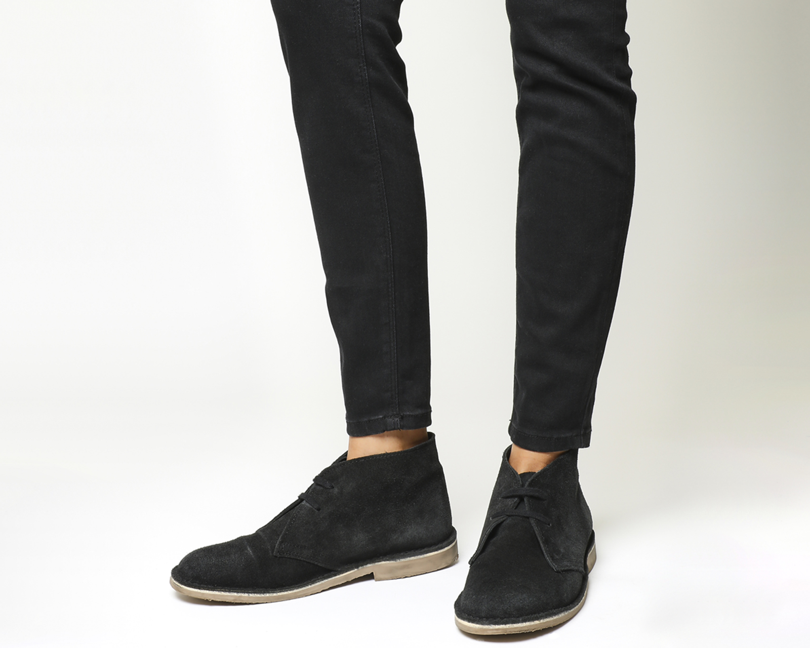 womens office uphill desert boot black suede black sole