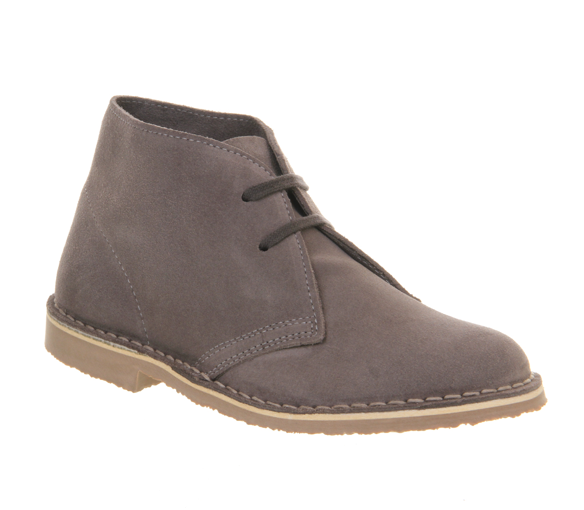 womens office uphill desert boot grey suede boots size 7