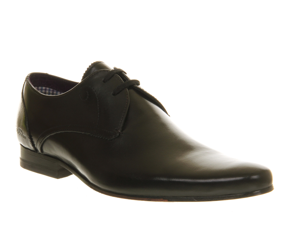 mens ted baker patrii lace up black leather formal shoes