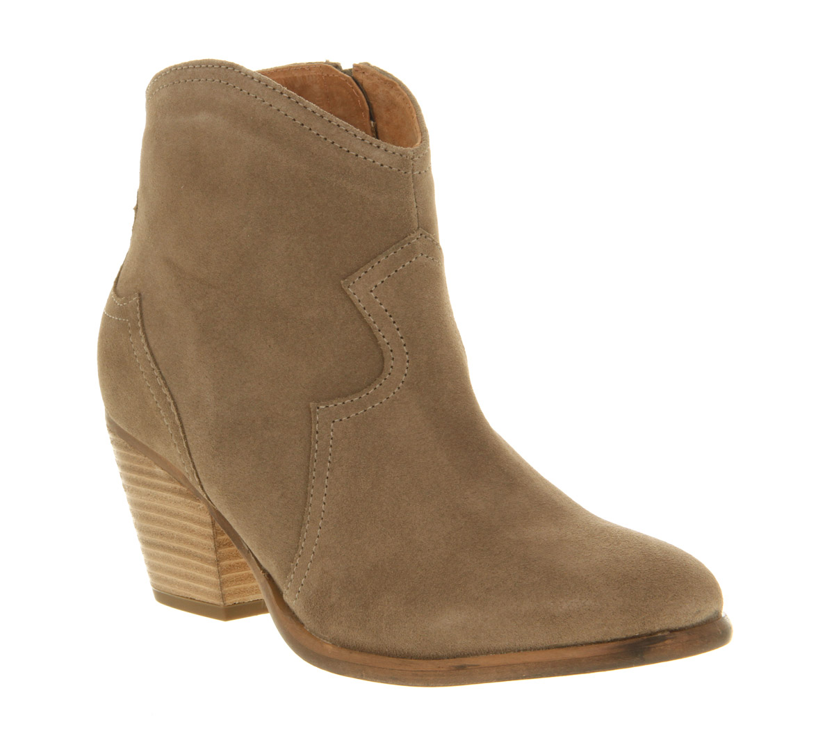 womens office untouchable taupe suede boots ebay