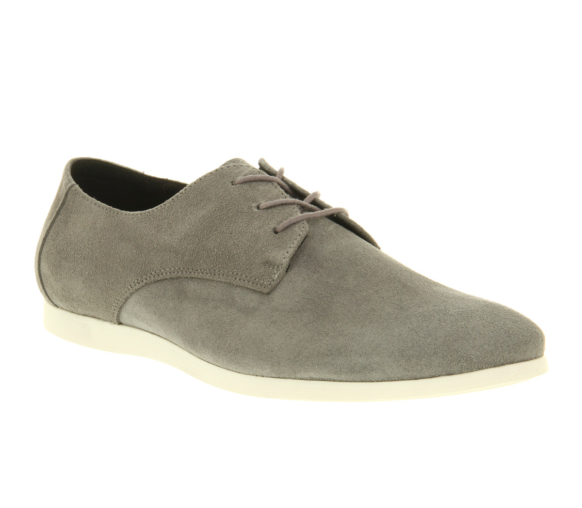 mens office perth lace up grey suede casual shoes size 6