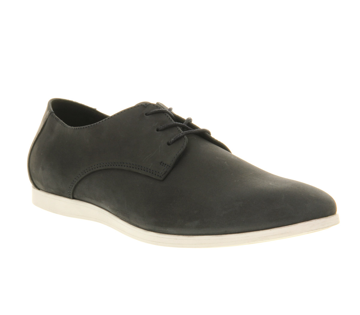 mens office perth lace up navy nubuck casual shoes size 11