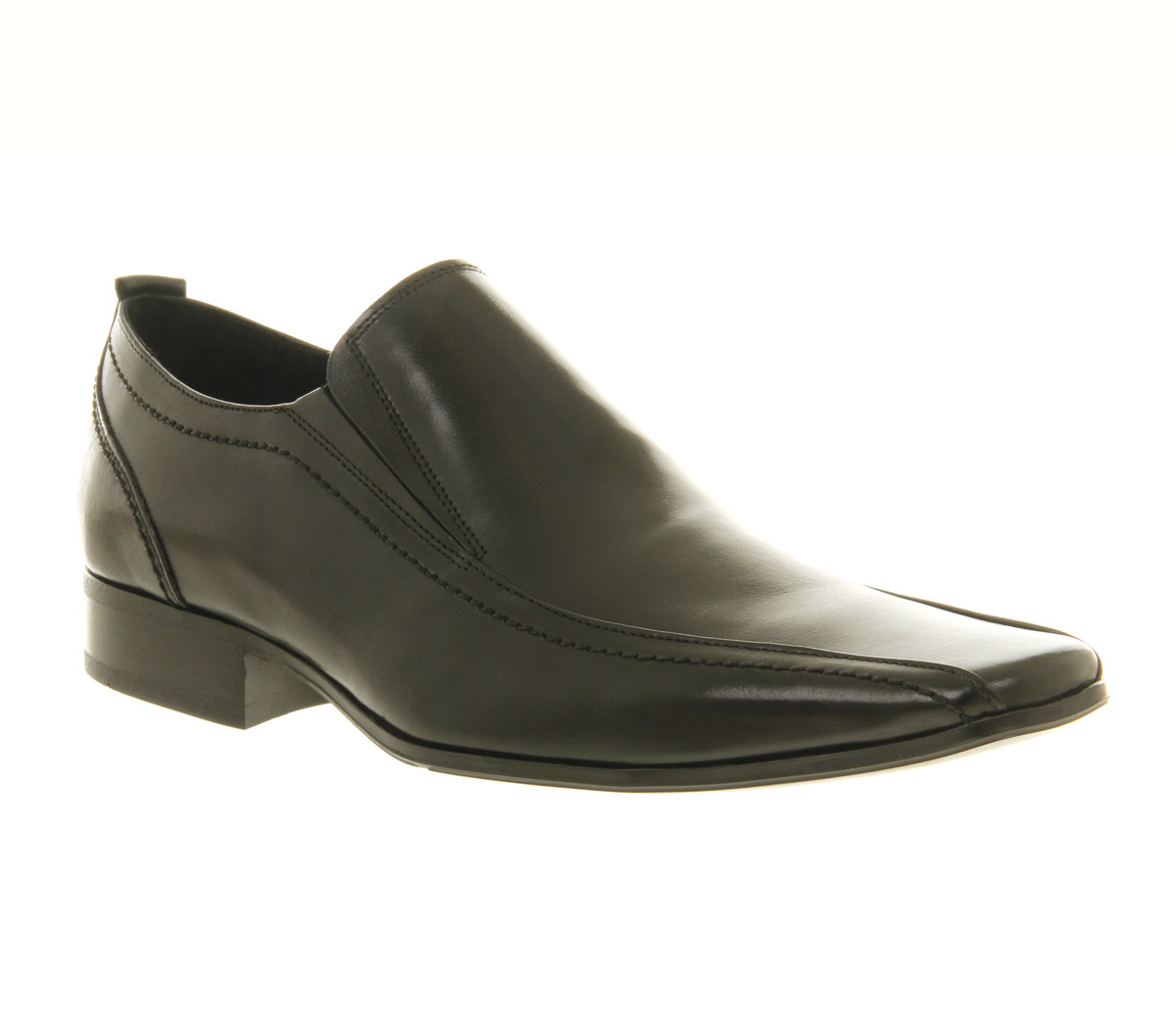 mens office lincoln loafer black leather formal shoes ebay