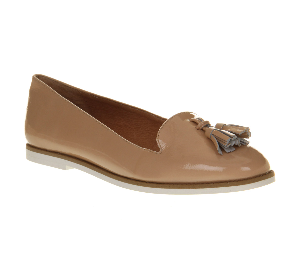 Nude Patent Flats 8