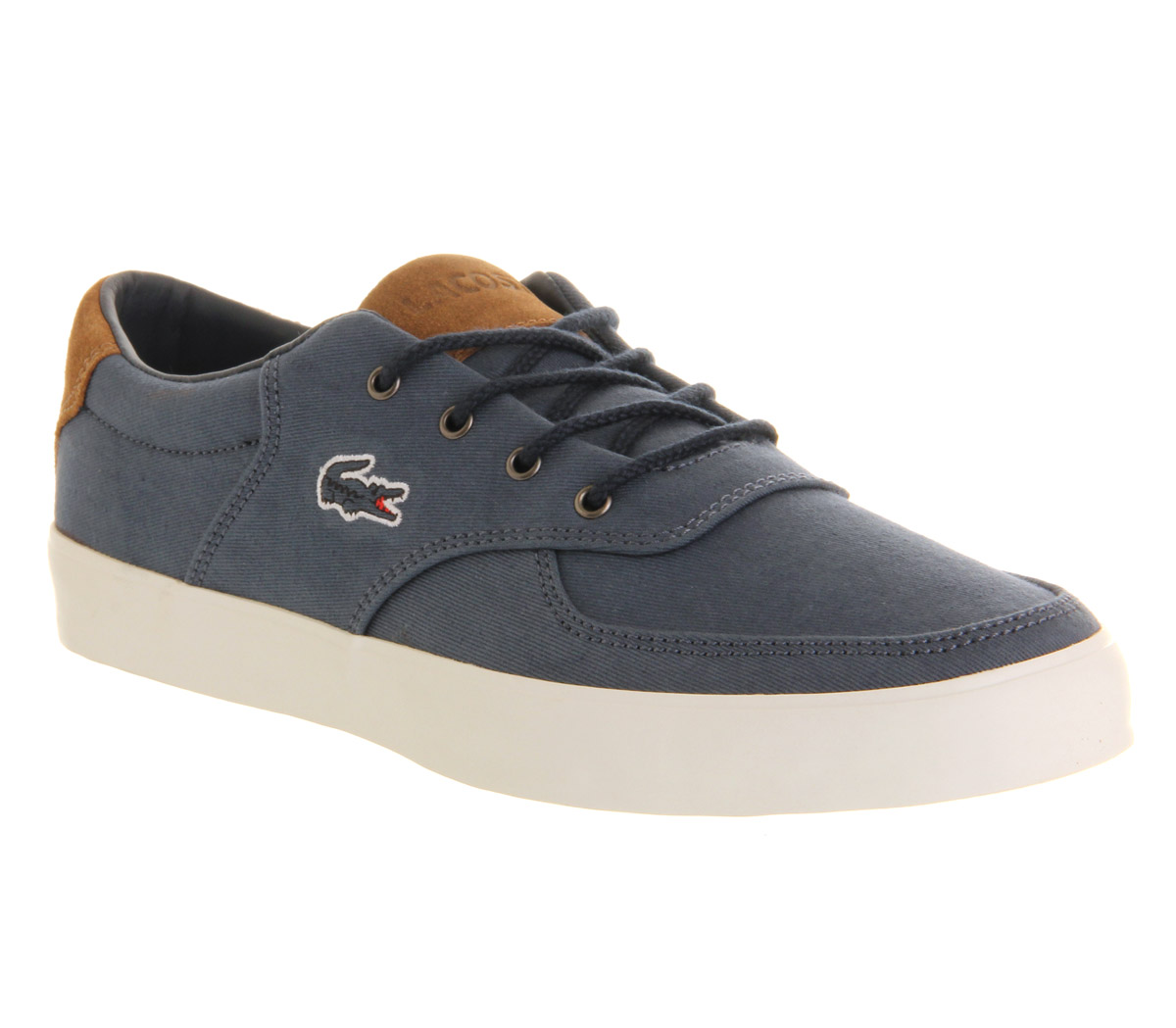 Mens-Lacoste-Glendon-Dark-Blue-Trainers-Shoes