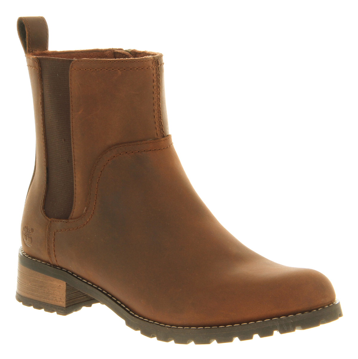womens timberland beth chelsea medium brown boots size 6