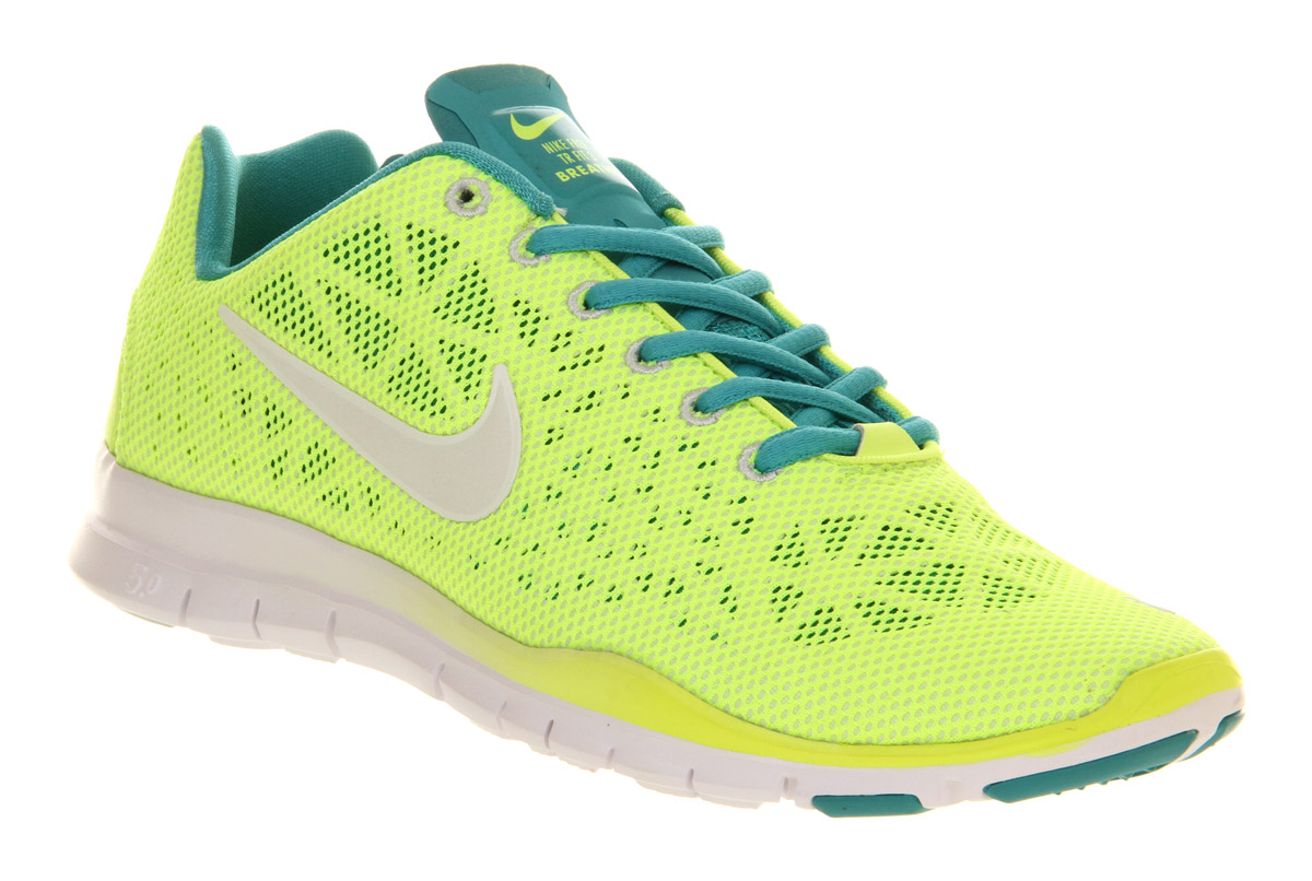 womens nike free tr fit 3 neon yellow volt white hypercool
