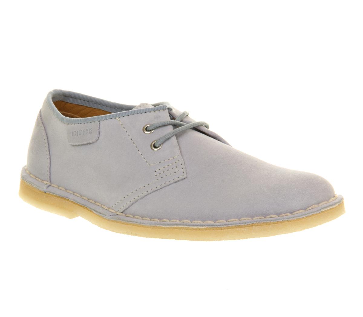 womens clarks originals jink lace up shoe pale blue suede