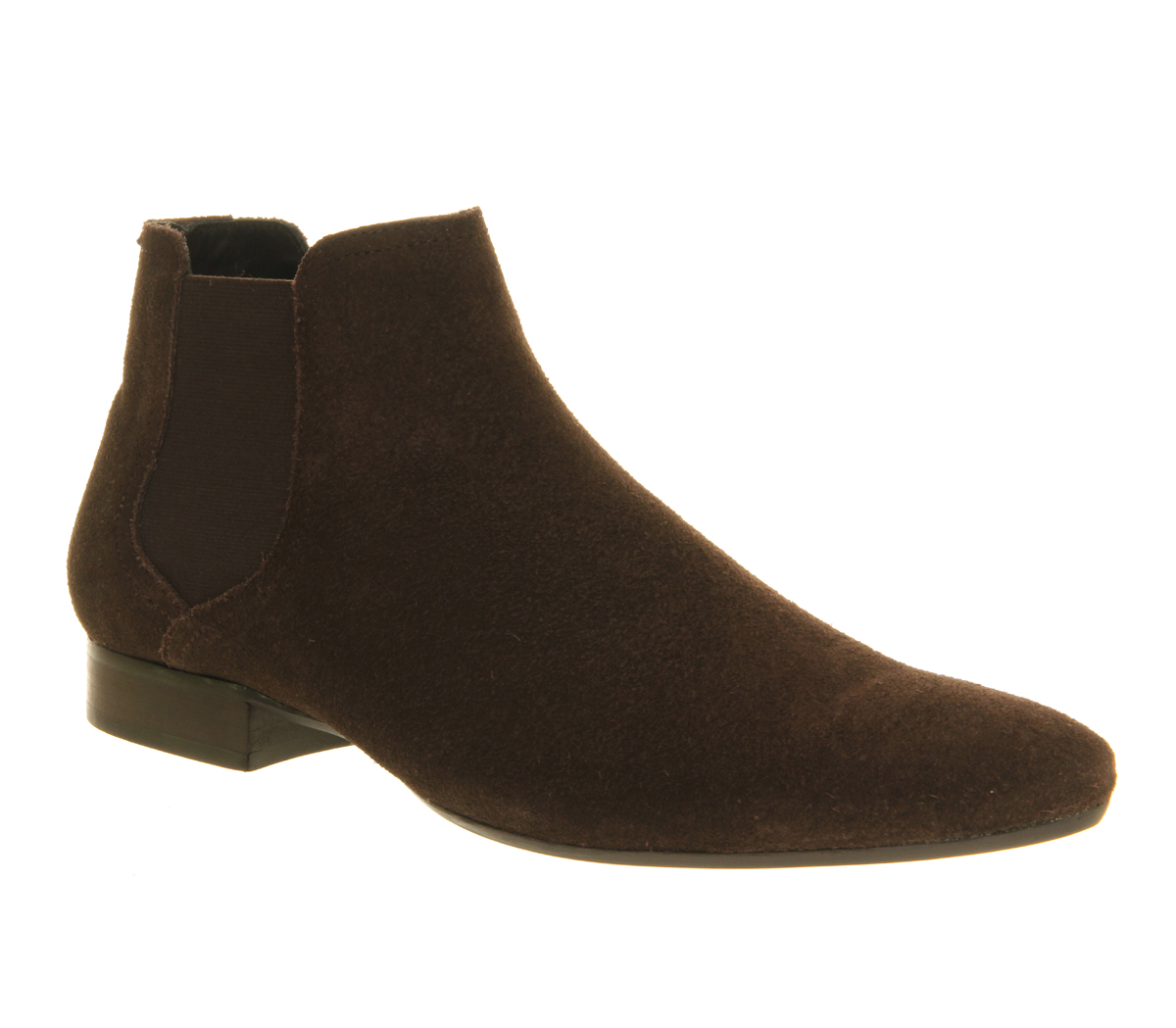mens ask the missus chelsea brown suede formal shoes