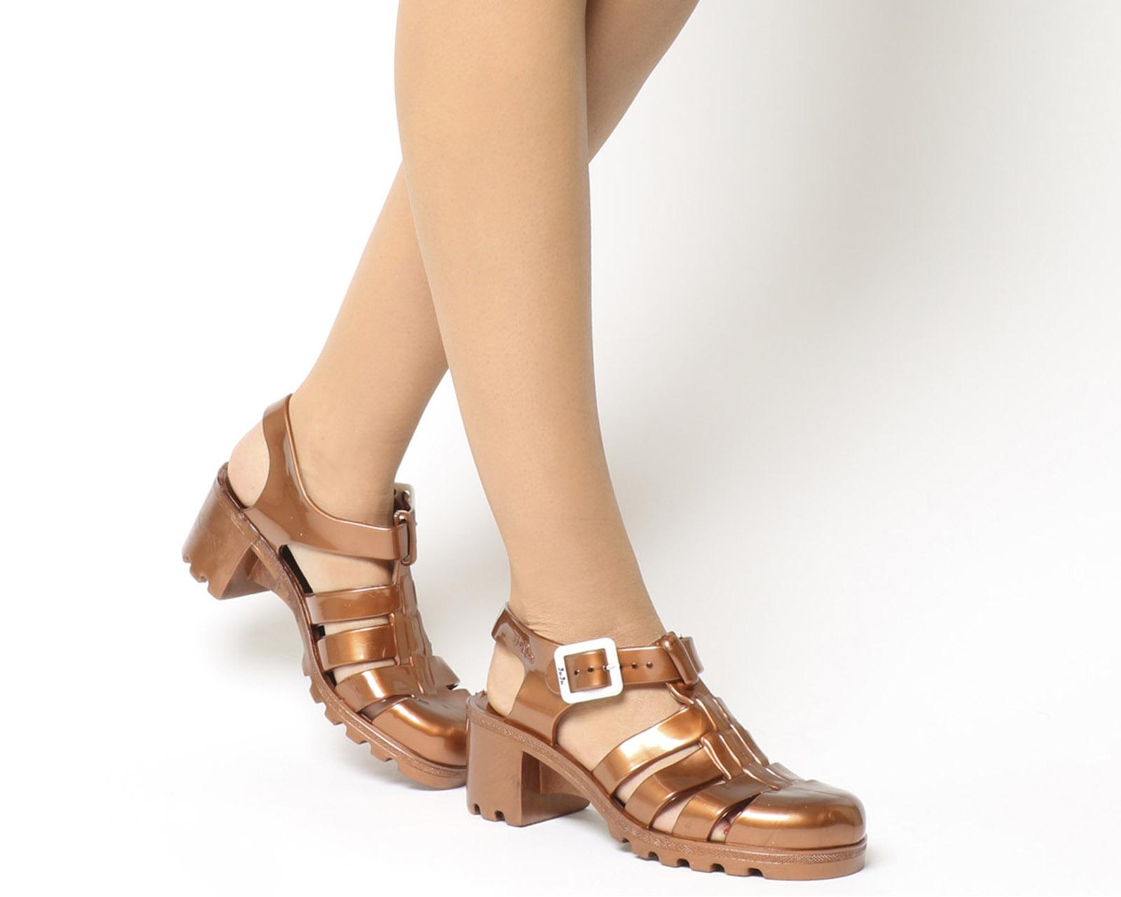 Womens JuJu Babe Hi Juju Jelly COPPER Sandals