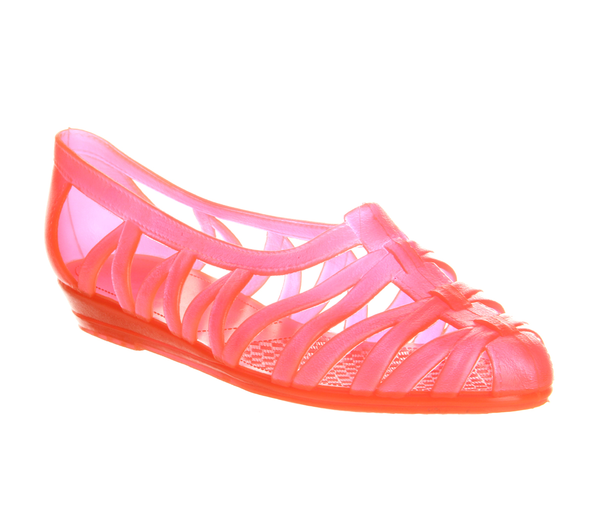 womens juju juju jelly fluro orange sandals ebay