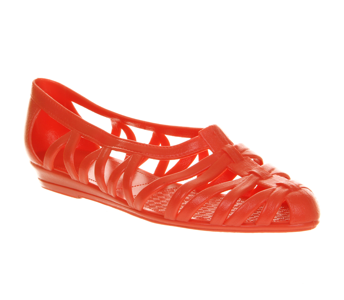 womens juju juju jelly coral sandals size 4 ebay