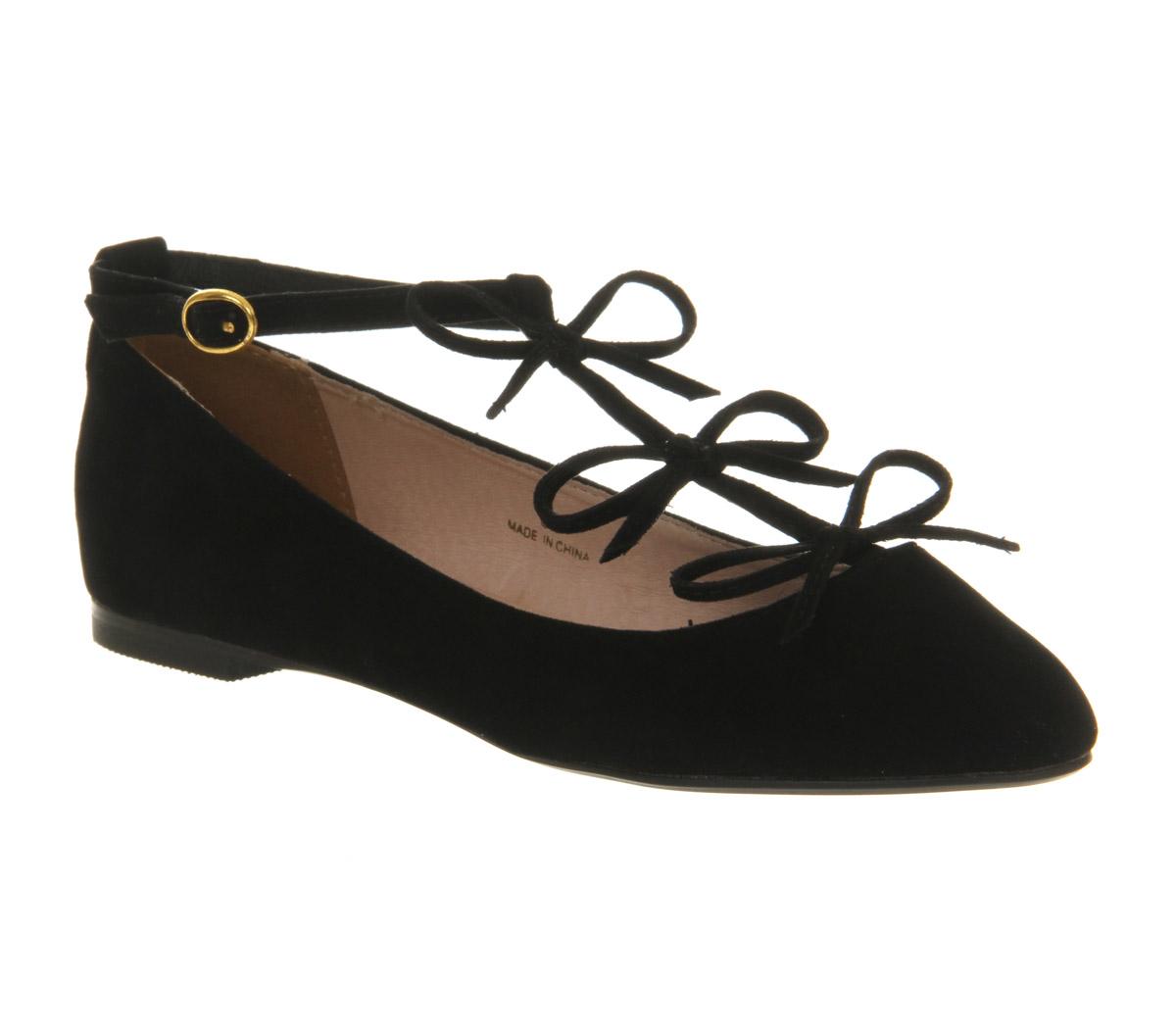 womens office tinder t bar black flats ebay