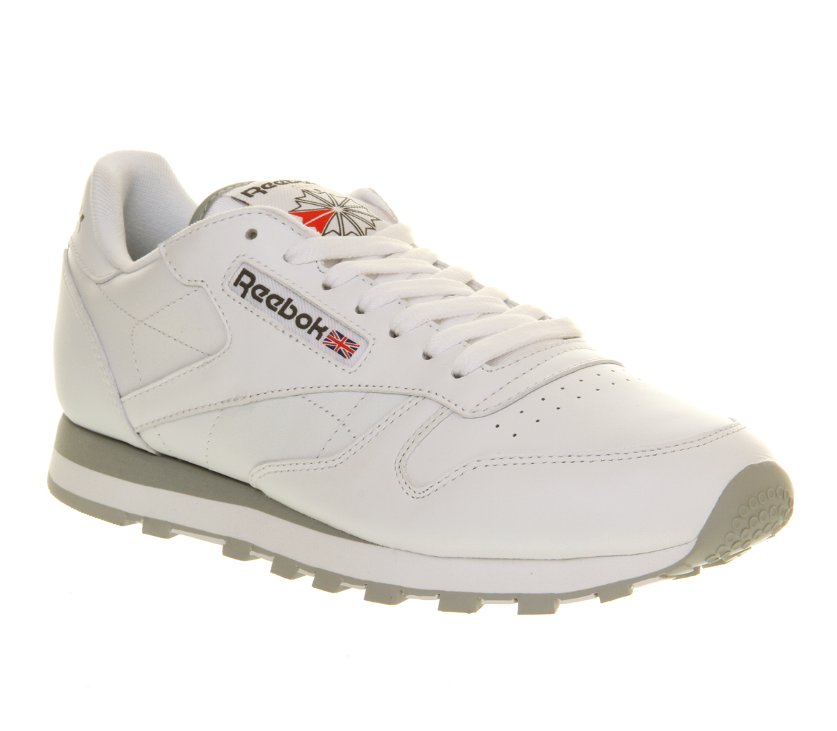 mens reebok classic leather white leather trainers shoes. Black Bedroom Furniture Sets. Home Design Ideas