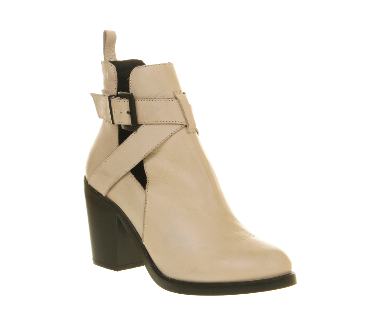 womens office beloved cut out boot white leather boots