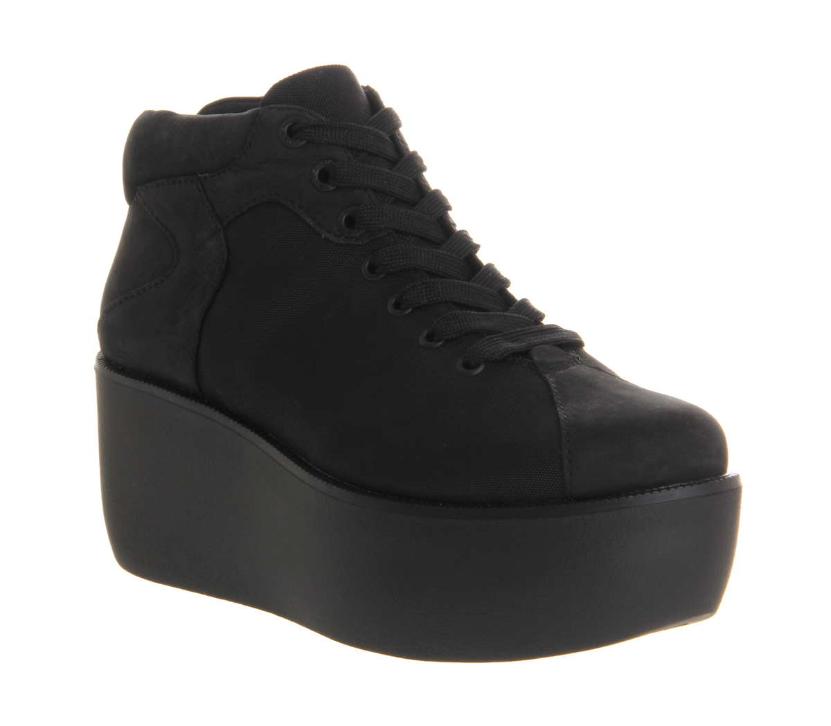 womens vagabond orixa closed toe wedge black canvas boots