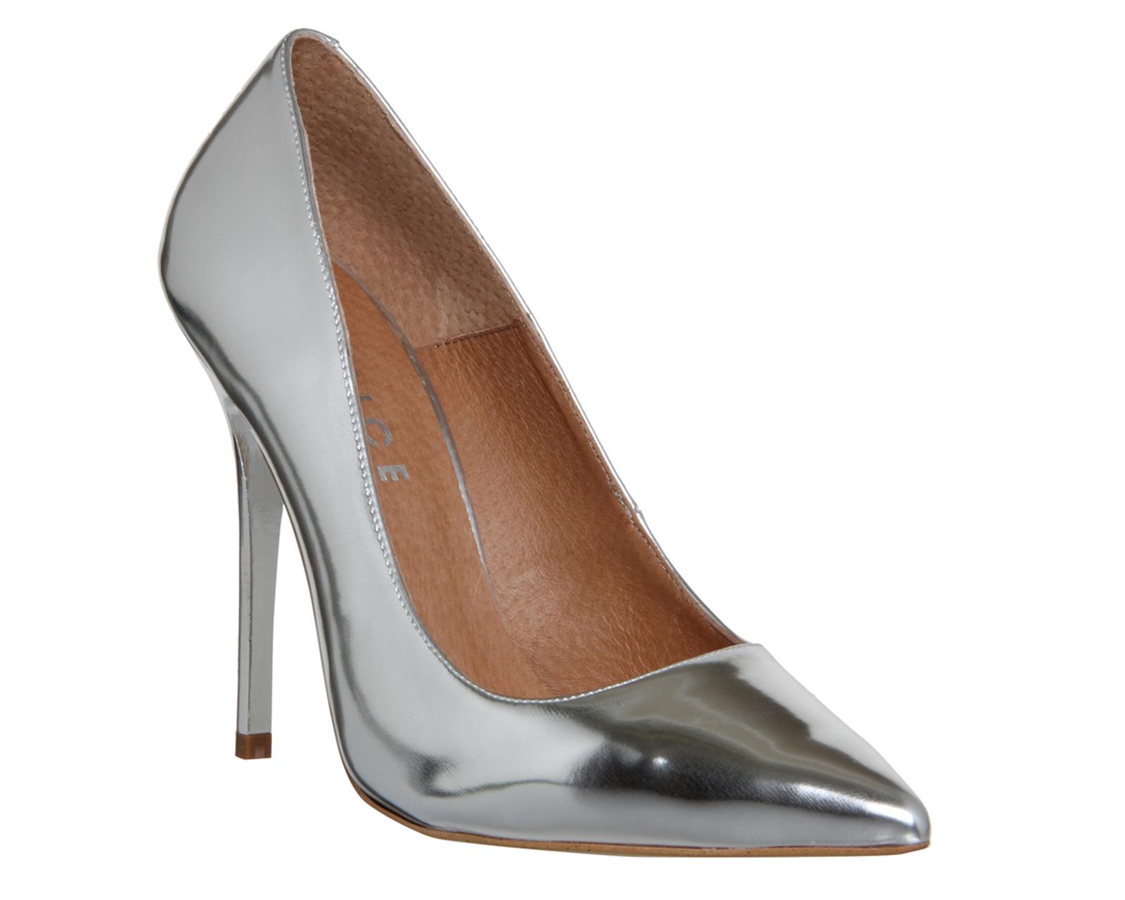 afa040c8250 Womens OFFICE On Tops Silver Mirror Court Shoe Heels - UK Size 6 .