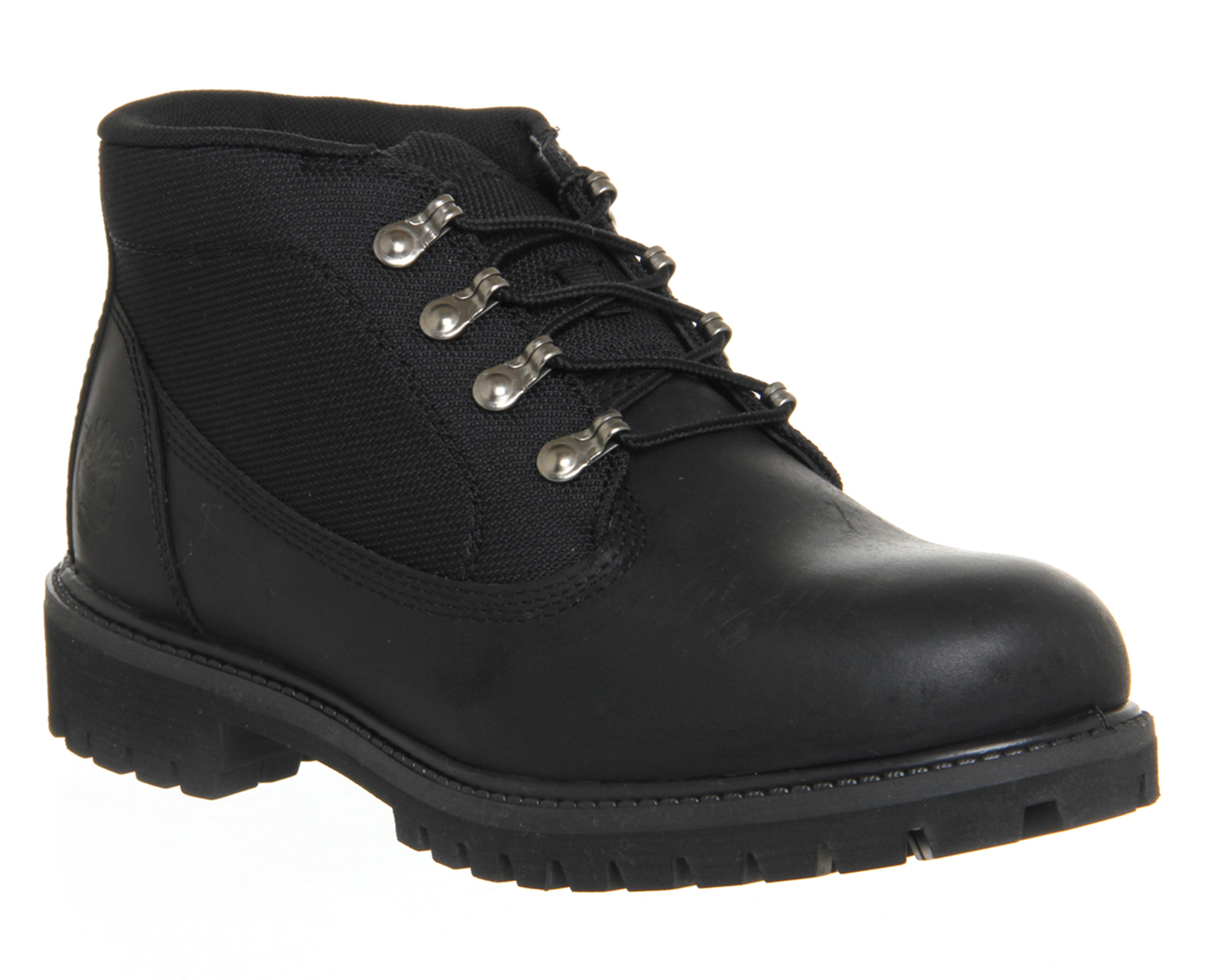mens timberland csite black recanvas leather boots uk