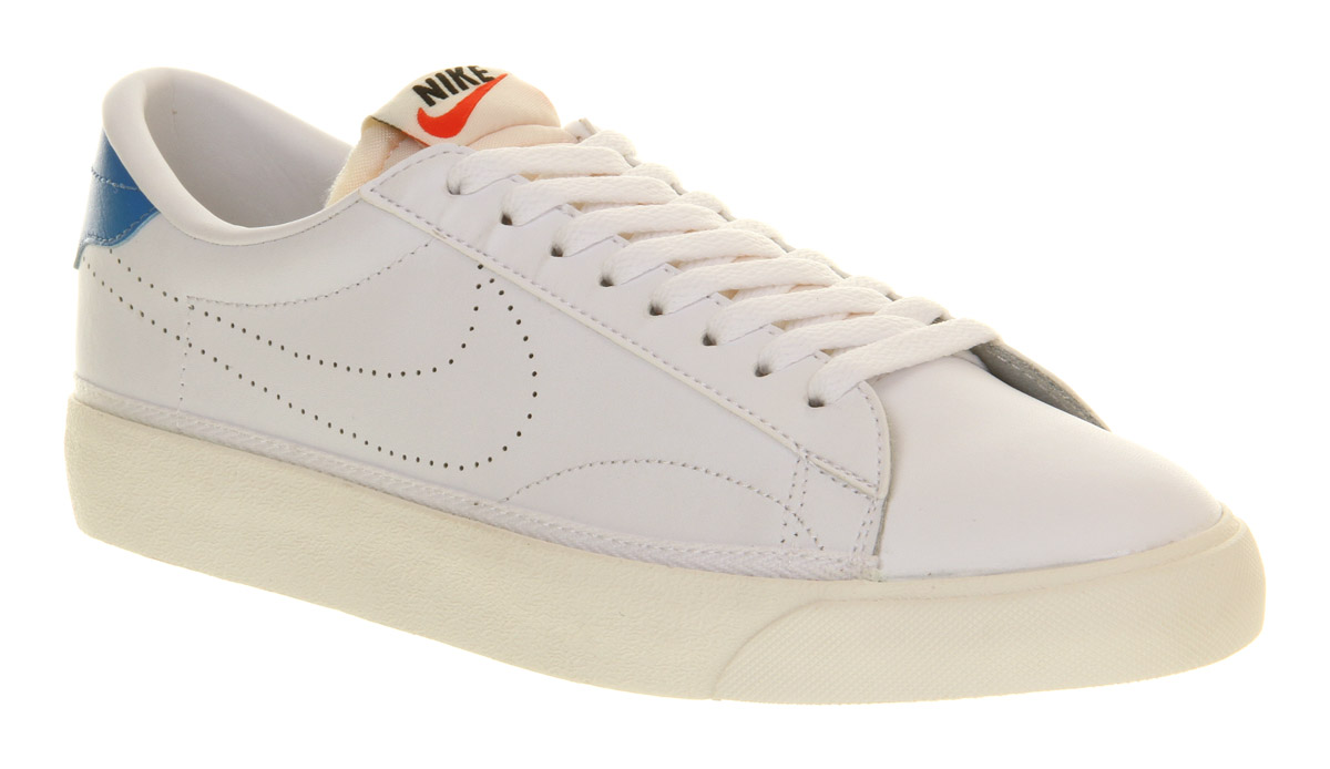 mens nike tennis classic ac white photo blue trainers shoes