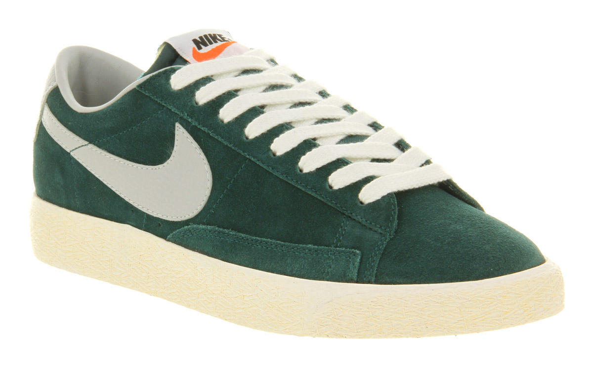 nike blazers green low top