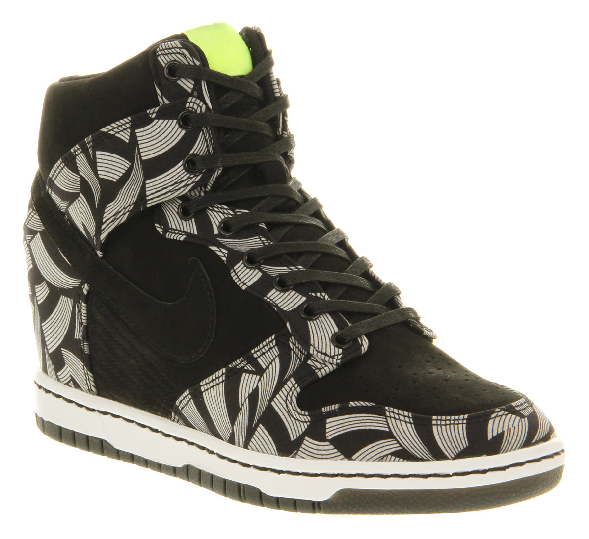 Womens Nike Dunk Sky Hi Black Volt Liberty Qs Trainers Shoes