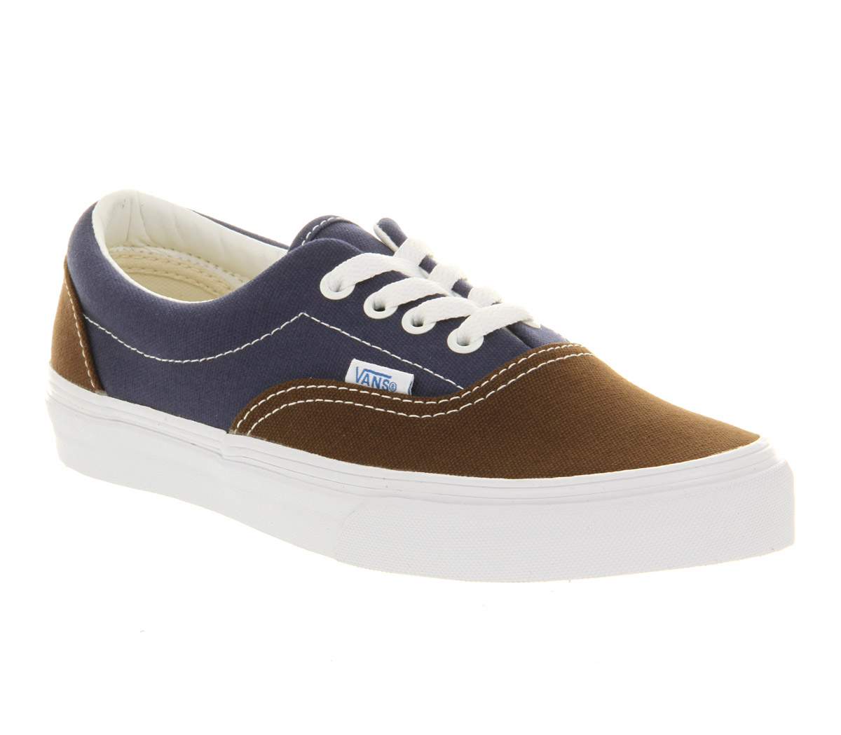 vans era vintage brown estate blue trainers shoes ebay