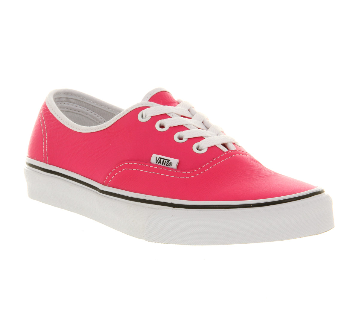 vans authentic leather neon pink trainers shoes ebay
