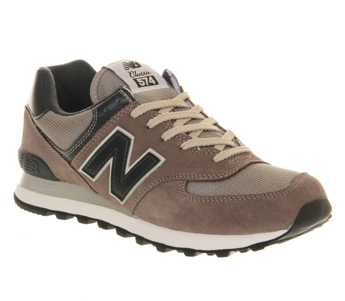 mens new balance new balance m574 grey navy trainers shoes. Black Bedroom Furniture Sets. Home Design Ideas