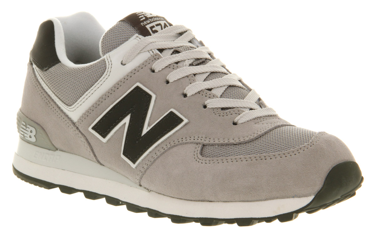 new balance new balance m574 grey dark grey trainers shoes size 5 ebay. Black Bedroom Furniture Sets. Home Design Ideas