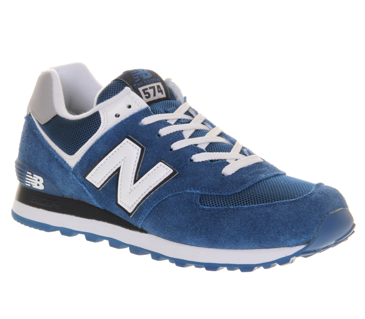 Mens-New-Balance-New-Balance-M574-Blue-White-Trainers-Shoes